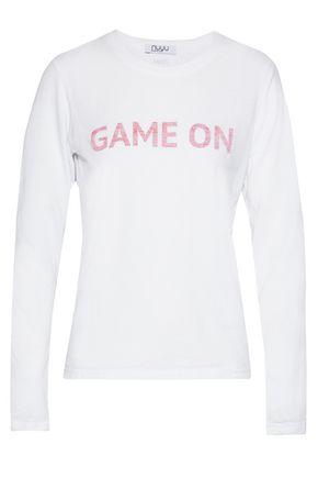 NUYU Printed slub jersey top