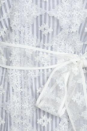 SANDRO Embroidered organza mini dress
