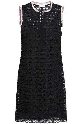SANDRO Crochet-knit mini dress