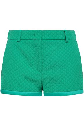 EMILIO PUCCI Satin-trimmed jacquard shorts