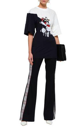 STELLA McCARTNEY Flocked printed cotton-jersey T-shirt