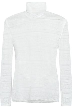 SANDRO Lace turtleneck top