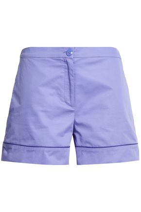 EMILIO PUCCI Neon cotton-poplin shorts