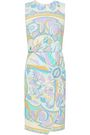 EMILIO PUCCI Wrap-effect printed jersey dress