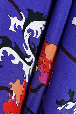 EMILIO PUCCI Printed silk-crepe kaftan