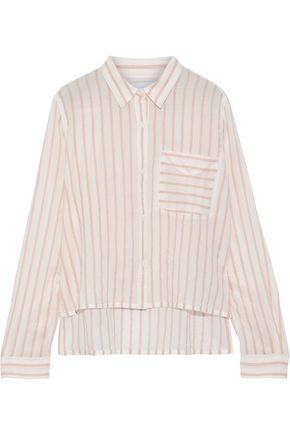 CURRENT/ELLIOTT The Georgia striped cotton-gauze shirt