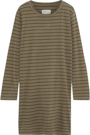 CURRENT/ELLIOTT The Beatink striped cotton-jersey mini dress