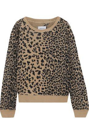 CURRENT/ELLIOTT The Open Back leopard-print French cotton-terry sweatshirt