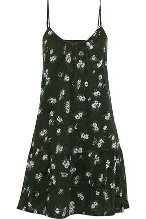 CURRENT/ELLIOTT The Strappy floral-print cotton-poplin mini dress