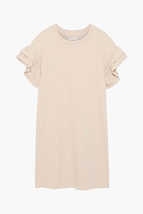 CURRENT/ELLIOTT The Carina ruffled cotton-jersey mini dress