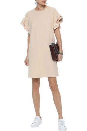 CURRENT/ELLIOTT The Carina ruffled cotton-jersey mini dress