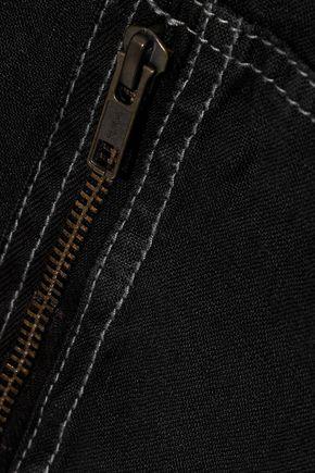 CURRENT/ELLIOTT The Zip Cargo cropped linen jumpsuit