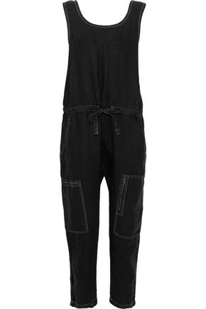 CURRENT/ELLIOTT The Zip Cargo cropped linen jumpsuit