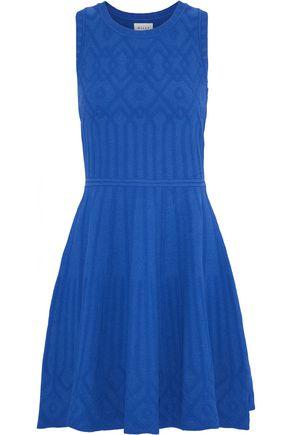 MILLY Flared jacquard-knit mini dress