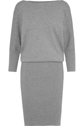 MILLY Mélange stretch-knit dress