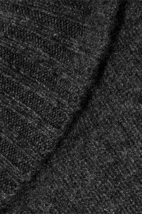 FRAME Mélange cashmere turtleneck mini dress