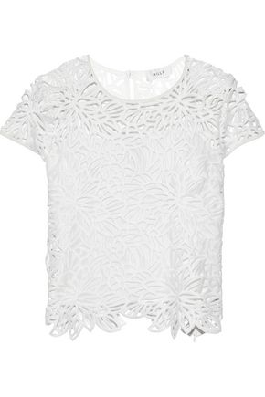 MILLY Guipure lace T-shirt