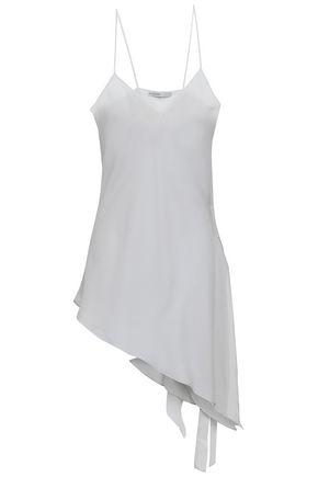 GENTRYPORTOFINO Lace-up silk-georgette top
