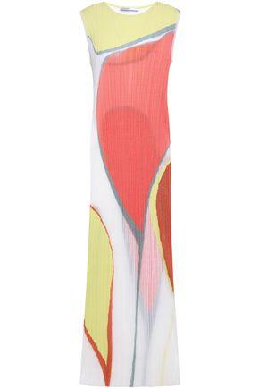 GENTRYPORTOFINO Ribbed silk-blend maxi dress