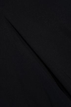 GENTRYPORTOFINO Open-back crepe halterneck jumpsuit