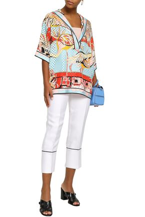 c30294ea9b04 EMILIO PUCCI Perforated printed silk-twill blouse