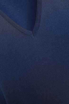 GENTRYPORTOFINO Asymmetric knitted dress