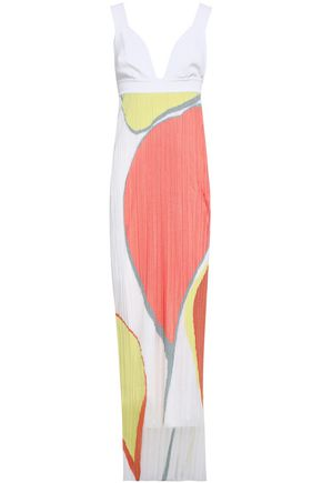 GENTRYPORTOFINO Intarsia-knit maxi dress
