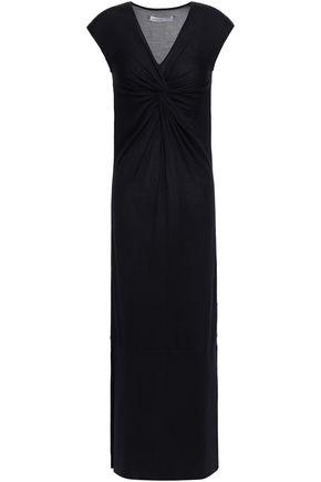 GENTRYPORTOFINO Twisted silk maxi dress