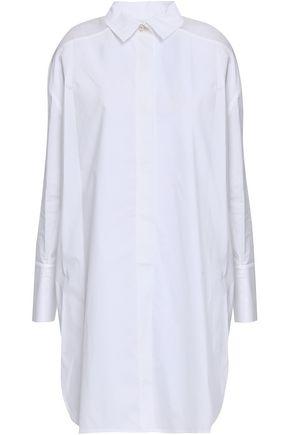 GENTRYPORTOFINO Striped linen midi shirt dress