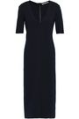 GENTRYPORTOFINO Stretch-silk ponte midi dress