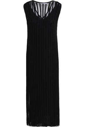 GENTRYPORTOFINO Pointelle-knit cotton-blend midi dress