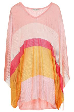 EMILIO PUCCI Striped pointelle-knit top