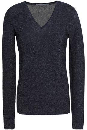 GENTRYPORTOFINO Metallic silk-blend sweater