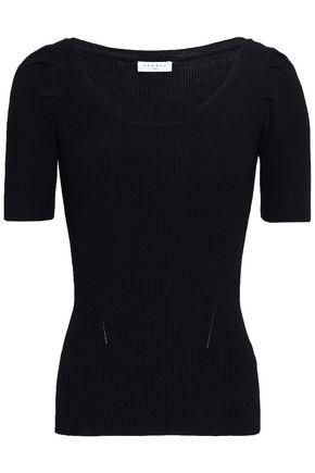 SANDRO Ribbed-knit top