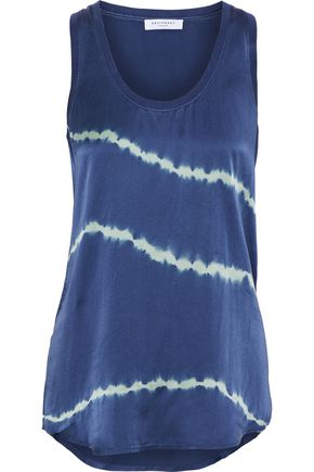 EQUIPMENT Mel tie-dyed washed-silk tank