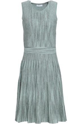 SANDRO Metallic knitted dress