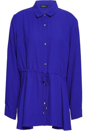 DKNY Gathered crepe shirt