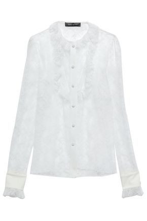 MAGDA BUTRYM Ruffled lace shirt