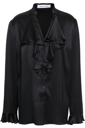 MAGDA BUTRYM Ruffled silk-satin blouse