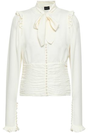 MAGDA BUTRYM Mancini pussy-bow button-detailed silk blouse