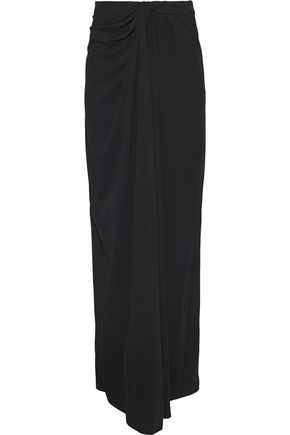 ROSETTA GETTY Strapless twisted stretch-crepe midi dress