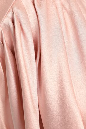 MAGDA BUTRYM Wrap-effect silk-satin crepe top