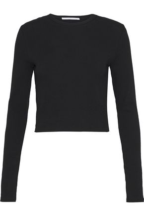 ROSETTA GETTY Cropped cotton-jersey top