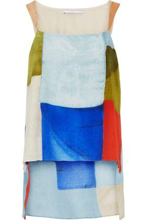 ROSETTA GETTY Printed silk crepe de chine top