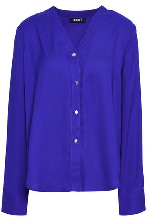 DKNY Satin-crepe shirt