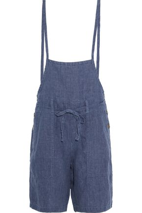 CURRENT/ELLIOTT The Chore linen-chambray playsuit