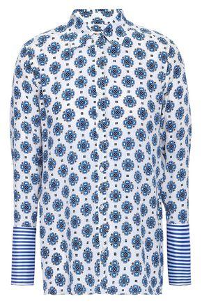 SANDRO Coleta printed silk crepe de chine top