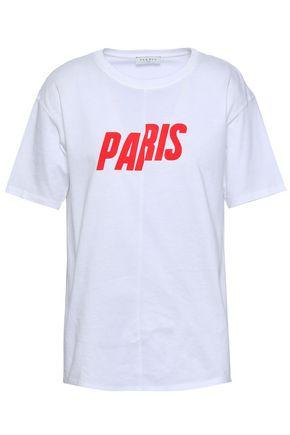 SANDRO | Sandro Printed Cotton-Jersey T-Shirt | Goxip