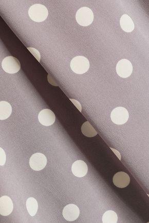 MARC JACOBS Polka-dot silk crepe de chine top