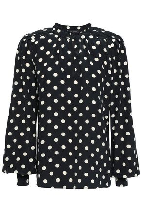 MARC JACOBS Polka-dot silk crepe de chine top